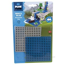 Plus-Plus 9603840 Ingenious Construction Toy Base Plate Grey and Blue 2 Pieces