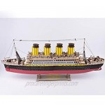 Large Size Titanic Model 3D Wooden Puzzles Cruise Ship English Version Collectible Building DIY Assembly Constructor Kit Collection Gift for Teens and Adults