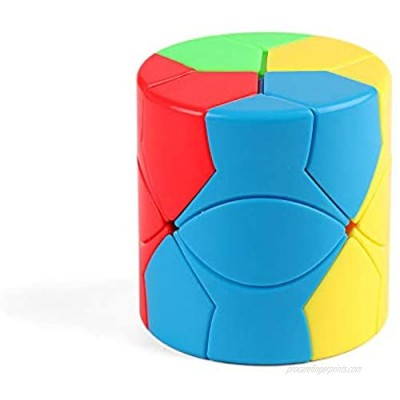 Yealvin Barrel Cube 3x3x3 Redi Cylinder Magic Cube 3x3 Stickerless Round Column Cube Puzzle Toys for Kids (Colorful)