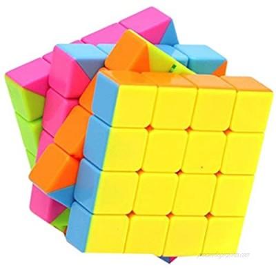 Little Treasures Cube 4 x 4 Speed Stickerless Cube Puzzle  Corner Cutting Cube  Bright Vivid Colors
