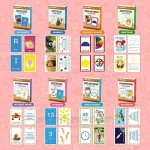 Flash Cards for Toddlers Age 2-4 Years Old Kindergarten Preschool - Set of 208 Flashcards Inclu Alphabets Numbers First Sight Words Colors & Shapes Animals Emotions Transport Time & Money