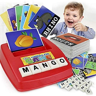 Matching Letter Game for Kids Learning Games  Spelling Game for Kids Ages 4-8 Kindergarten Preschool Activities Sight Words Learning Toys for 3 4 5-8 Year Old Boys Girls Birthday Christmas Xmas Gifts