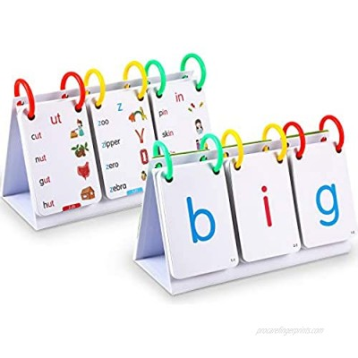 Outus Sight Words Flash Cards Alphabets Flash Cards Set  Sight Words Flash Cards 66 Cards with 132 Pictures  Educational Learning Kindergarten Flashcards for Toddlers Educational Tools