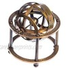 classical.gift.export Brass Armillary Sphere with Stand  9 cm High - Steampunk  Pirate or Vintage Decoration A