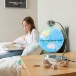 Fat Brain Toys Levitating Magnetic Globe - Levitating Illuminated Globe History & Geography for Ages 8 to 12