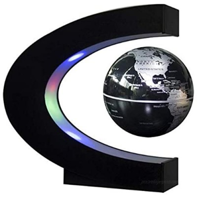 Magnetic Levitating Floating World Map Globe with LED Lights and C Shape Base  Perfect Gift Item for Home or Office Desk Decor by Mobius01