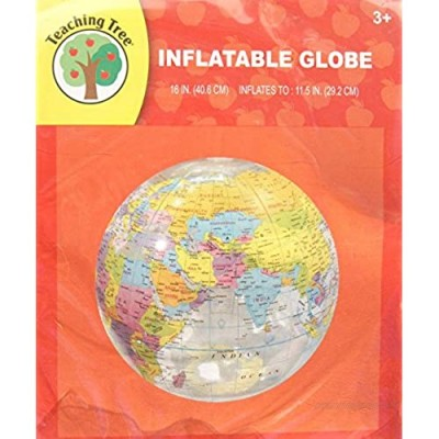 Transparent Inflatable Globe - 11.5 inches