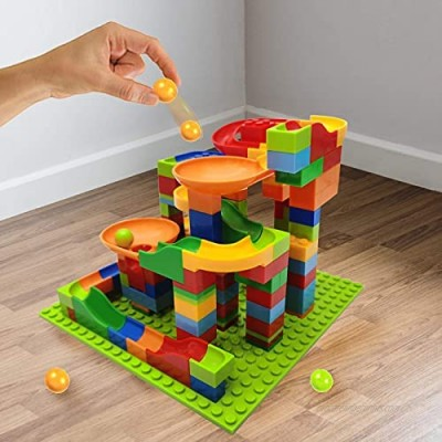 ANTS DREAM Marble Run Building Toys Creativity Toys Building Blocks Set Marbles Running Balls   Coaster Construction Toys Marble Maze Race Track  Classic Blocks for Toddler Kids