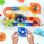 Chlidtoys Marble Run Building Toys for Kids Marble Maze Blocks Toys for Boys Girls 113Pcs Marble Race Track for Kids Age 3 4 5 6 7 8+ with Full Color Instruction Manual