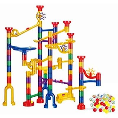 WTOR 190Pcs Marble Run Sets STEM Toys for Kids Boys Girls  Educational Learning Marble Building Blocks Girl Boy Toy Gift for Kids Children (22 Glass Marbles)