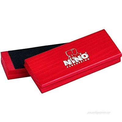 Nino Percussion NINO940R Wood Sand Block Pair  Red