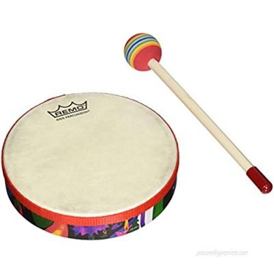 """REMO Drum  KIDS PERCUSSION  Hand Drum  6"""" Diameter  1.25"""" Depth  Fabric Rain Forest"""
