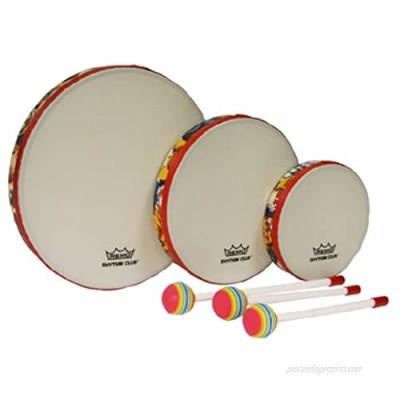 Remo RH3100-00 3-Piece Drum Set Multi-colored Rhythm Club Hand Drum Set  6/8/10-Inch Diameters