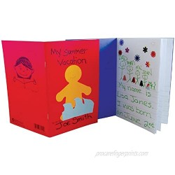 """Hygloss Paperback Blank Story Books for Children - Write & Illustrate Stories - Great Activity for Classroom  Home & More - 6 Vibrant Colors - 5.5"""" x 8.5""""  Pack of 24"""