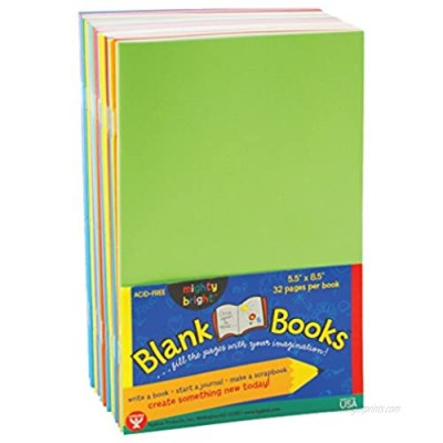 Hygloss Products - HYG77705 Colorful Blank Books – Books for Journaling  Sketching  Writing & More – Great for Arts & Crafts - 10 Assorted Bright  Fun Colors - 5.5 x 8.5 Inches - 10 Pack