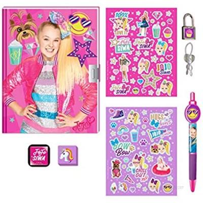 JoJo Siwa Nickelodeon Journal Secret Diary Set for Girls with Lock and Stickers