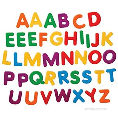 Constructive Playthings Giant Magnetic Uppercase Letters  Large Educational Magnets for Kids  BKM-302