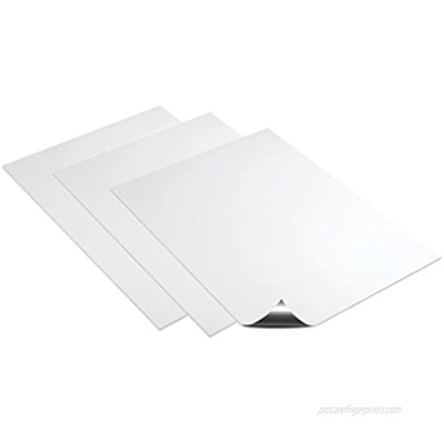 """Deflecto Magnetic Craft Sheets  8"""" x 15""""  3-Pack  White (5901)"""