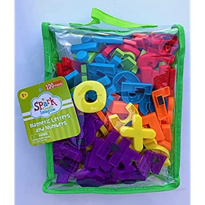 Spark Magnetic Letters & Numbers 120 Pieces Alphabet ABC & 123 Magnets