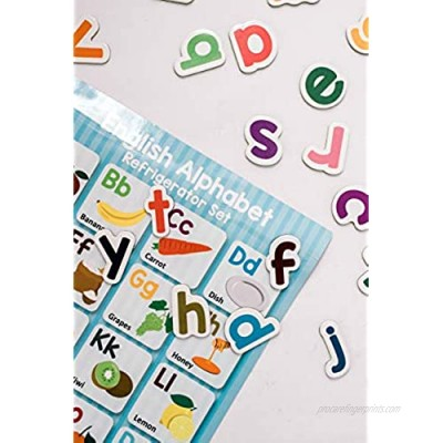 Wooden English Alphabet Letter Magnets with Matching Poster by Nemah's House
