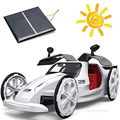 ZAYOR STEM Toys Education Solar Car Toys Mechanical Engineering Building Toys Solar and Battery Powered 2 in 1 DIY  6 7 8 9 10 Years and Up Preschool Toddlers Kids Birthday Gifts for Boys & Girls