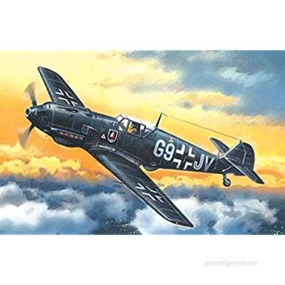 ICM 1/72 Scale Messerschmitt Bf 109E-4  WWII German Night Fighter - Plastic Model Building Kit # 72134