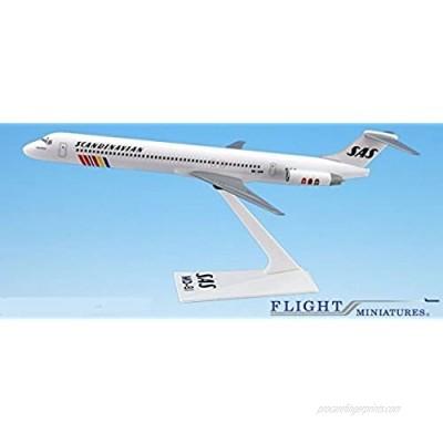 SAS Scandinavian Mcdonnell Douglas MD-80 Airplane Miniature Model Snap Fit 1:200 Part#AMD-08000H-014