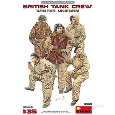 Miniart 1:35 Scale British Tank Crew Winter Uniform Building Kit (multi-colour)