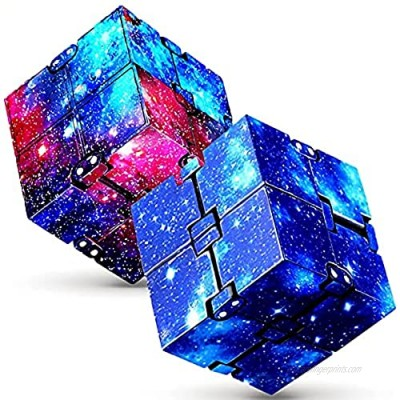 Infinity Cube Fidget Toy - Fidget Blocks for Stress and Anxiety Relief Mini Toys  Fidget Toy Relaxing Hand-Held for Adults and Kids  Killing Time Cool Infinite Cube for ADD/ADHD/OCD  2 Pack