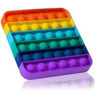 MATICAN Push Pop Bubble Fidget Sensory Toy  Push Pop Fidget Toy  Square  Rainbow
