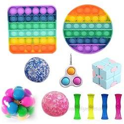 Sensory Fidget Toy Set-Cheap Sensory Fidget Pack Simples Dimple Pop Bubble Infinite Cube Stress DNA Ball Anti-Anxiety Toys
