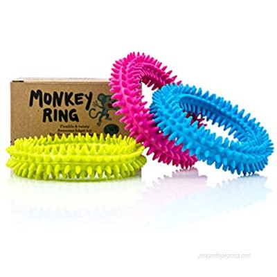 Spiky Sensory Ring / Bracelet Fidget Toy (Pack of 3) - No BPA  Phthalate  Latex - Fidgets Toys / Stress Rings for Children and Adults - by Impresa Products