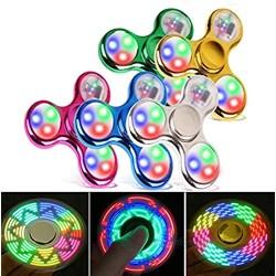 FIGROL Fidget Spinner  Led Light Fidget Toy Rainbow Finger Toy Hand Figit Spinner-Kids for ADHD Anxiety Stress Reducer (5 Pack)