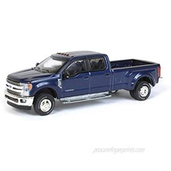2019 Ford F-350 Lariat Dually Pickup Truck Blue Jeans Metallic Dually Drivers Series 6 1/64 Diecast Model Car by Greenlight 46060 F