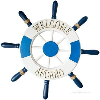 Nautical Ship Wheel Wall Decor 13inch Nautical Wreath Nautical Decor For Walls Nautical Beach Wooden Boat Ship Steering Wheel