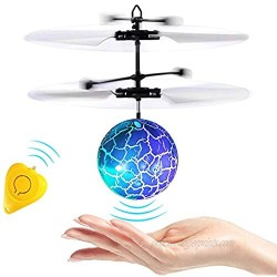 Flying Toy Ball RC Flying Toys Remote Controller Induction Light up Ball Recharge Drone Toy for Indoor Outdoor Games Holiday Toy Easter Gifts for Boys Girls