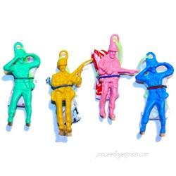Toy Cubby Assorted Colors Vinyl Alien Realistic Paratrooper Men. Throw N' Watch. 36 Pieces.