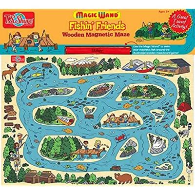 Bendon TS Shure Fishing Magic Wand Magnetic Maze with 3 Magnets and Magnetic Magic Wand Pre-School Learning 50462