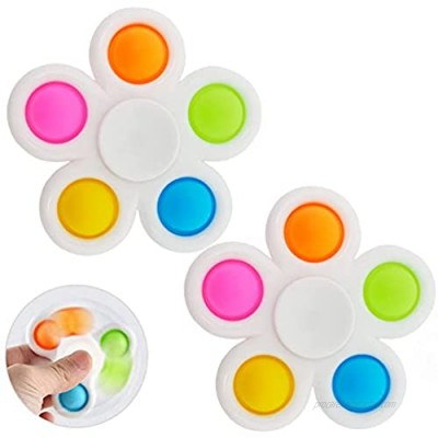 2 Pack Simple Fidget Dimple Toy Silicone Flipping Board Toy   Stress Relief Sensory Hand Toy  Toddler Early Educational Toy  Handheld Mini Fidget Toy Stress Relief Toy Mini Fidget Toy for Kids Adults