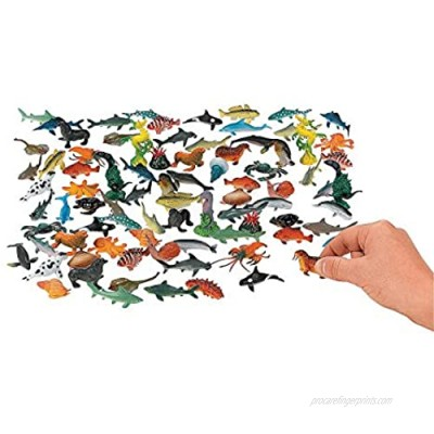 Fun Express - Under The Sea! Sea Life Creatures - Toys - Character Toys - Action Figures - 90 Pieces