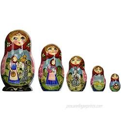 "G. Debrekht Red Riding Hood Nested Doll  6"""