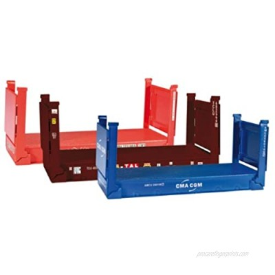 herpa 076579 076579-Accessories : Flat Container  20 Feet