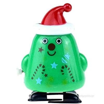 Amosfun Christmas Wind Up Toys Christmas Tree Wind up Stocking Stuffers Christmas Party Favors for Kids (Walking Christmas Tree)