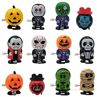 YOFOBU 12 Pack Halloween Goody Bag Filler Wind Up Toys Halloween Assorted Clockwork Toys for Party Favors