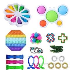 Fidget Toys Sensory Fidget Toys Set Push Bubble Stress Relief Toys Set Anxiety Relief Squeeze Toys
