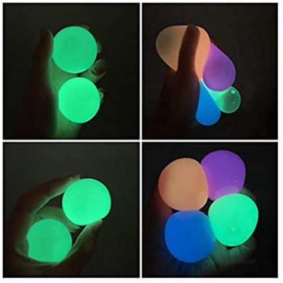 Glowing Ball Stress Squeeze Grape Toys Anxiety Relief Stress Ball for Kids and Adults Non-Toxic ADHD  OCD  Anxiety