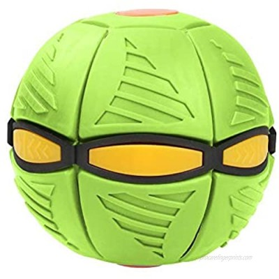 N/P Kids Toy Eformable Flying Saucer Ball  Magic Flying Saucer Ball Games Ball with Light Magic Vent Ball Parent Child Toy