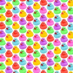 86-Pack Mini Bath Ducks Set  Mini Colorful Rubber Duckies Bath Toy for Child  Float & Squeak Tiny Ducks Pool Toy Set for Kids Party Favors Birthday Party Supplies Prize Rewards