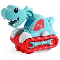 SKYLEAD Dinosaur Car Toys for Infant with Light and Sound  Electronic Toys for Toddlers  Dino Engineering Vehicle Lights Up Toys for Baby Month 12+  Educational Dino Cute Toys (Dinosaur Excavator)