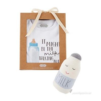 Blue Milk Knit Rattle Gift Set